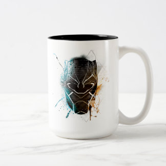 Black Panther | Dual Panthers Street Art Two-Tone Coffee Mug