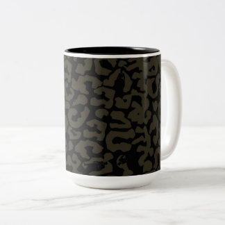 Black Panther | Erik Killmonger Panther Pattern Two-Tone Coffee Mug