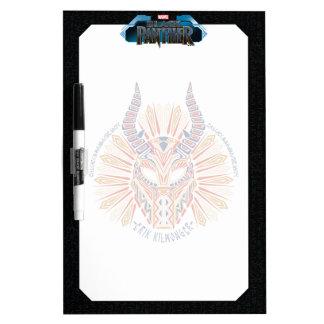 Black Panther | Erik Killmonger Tribal Mask Icon Dry Erase Board
