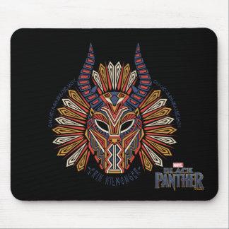 Black Panther | Erik Killmonger Tribal Mask Icon Mouse Mat