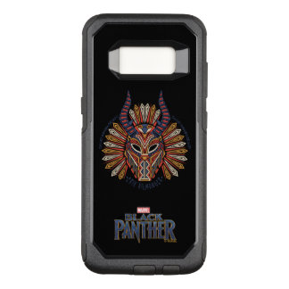 Black Panther   Erik Killmonger Tribal Mask Icon OtterBox Commuter Samsung Galaxy S8 Case