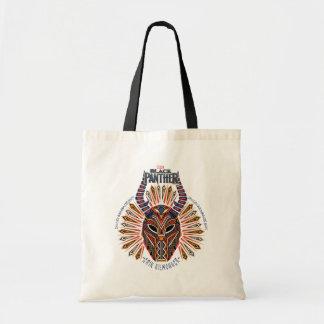 Black Panther   Erik Killmonger Tribal Mask Icon Tote Bag