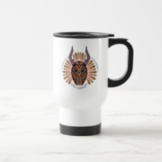 Black Panther   Erik Killmonger Tribal Mask Icon Travel Mug