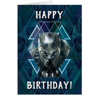 Black Panther | Geometric Character Pattern Card