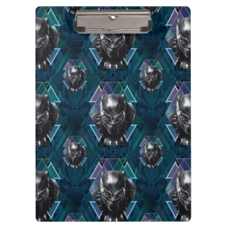 Black Panther | Geometric Character Pattern Clipboard