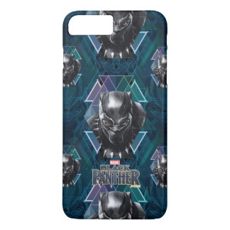 Black Panther | Geometric Character Pattern iPhone 8 Plus/7 Plus Case