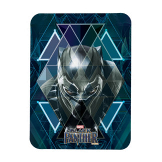 Black Panther | Geometric Character Pattern Magnet