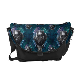 Black Panther | Geometric Character Pattern Messenger Bag