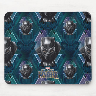 Black Panther | Geometric Character Pattern Mouse Mat