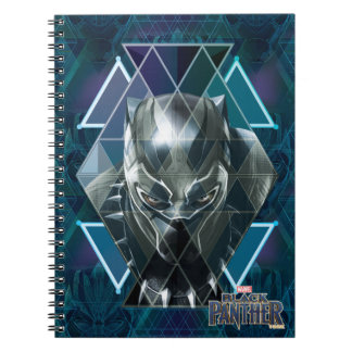 Black Panther | Geometric Character Pattern Spiral Notebook