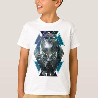 Black Panther | Geometric Character Pattern T-Shirt