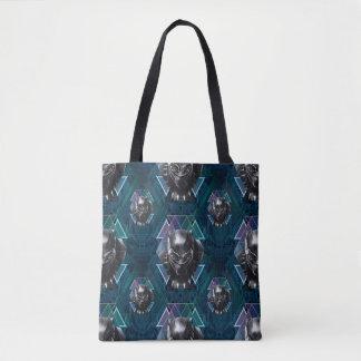 Black Panther | Geometric Character Pattern Tote Bag