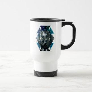 Black Panther   Geometric Character Pattern Travel Mug