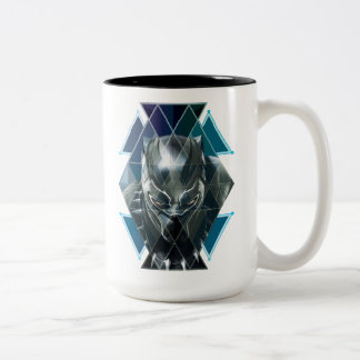 Black Panther | Geometric Character Pattern Two-Tone Coffee Mug
