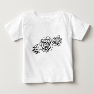 Black Panther Golf Mascot Breaking Background Baby T-Shirt