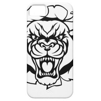 Black Panther Golf Mascot Breaking Background Case For The iPhone 5
