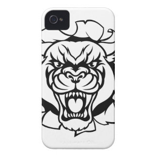 Black Panther Golf Mascot Breaking Background iPhone 4 Covers
