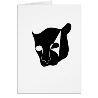 black panther head card