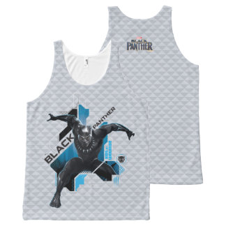 Black Panther   High-Tech Character Graphic All-Over Print Tank Top