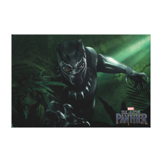 Black Panther | In The Jungle Canvas Print