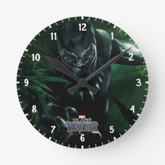 Black Panther | In The Jungle Round Clock