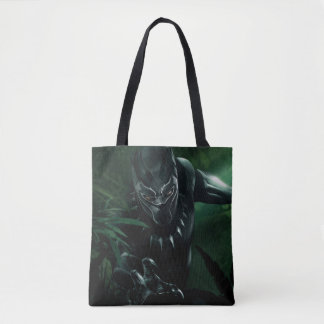 Black Panther   In The Jungle Tote Bag
