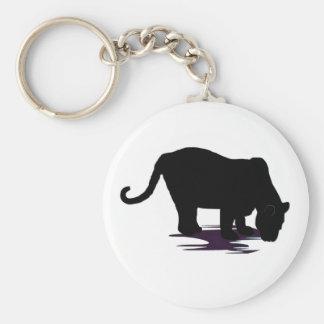 Black Panther Basic Round Button Key Ring