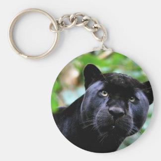 Black Panther Macro Basic Round Button Key Ring