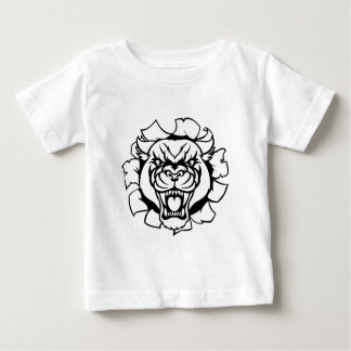 Black Panther Mascot Background Breakthrough Baby T-Shirt