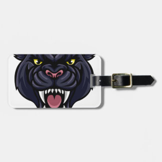 Black Panther Mascot Luggage Tag