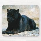 Black panther mouse mat