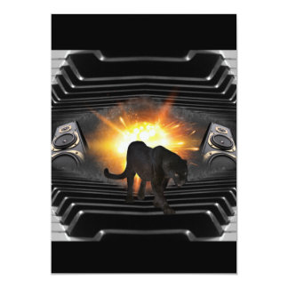 Black Panther Music Video Theme 13 Cm X 18 Cm Invitation Card