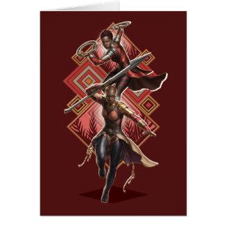 Black Panther | Nakia & Okoye Wakandan Graphic Card