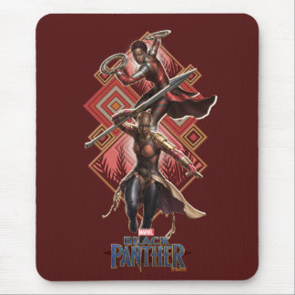Black Panther | Nakia & Okoye Wakandan Graphic Mouse Mat