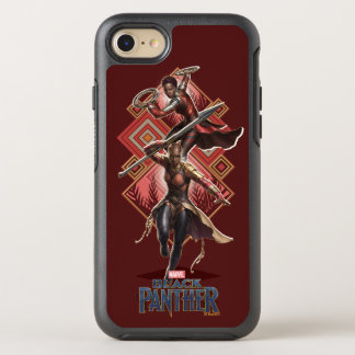 Black Panther | Nakia & Okoye Wakandan Graphic OtterBox Symmetry iPhone 8/7 Case
