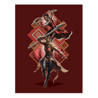 Black Panther | Nakia & Okoye Wakandan Graphic Postcard