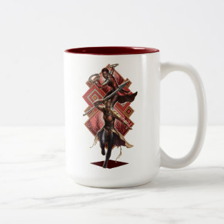 Black Panther | Nakia & Okoye Wakandan Graphic Two-Tone Coffee Mug