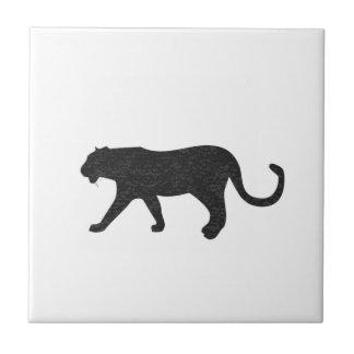 Black Panther on White Tile