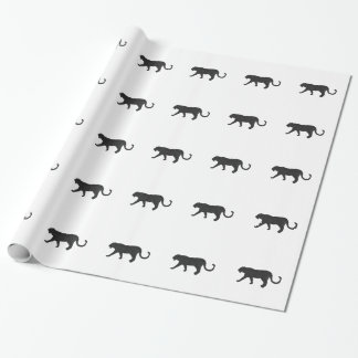 Black Panther on White Wrapping Paper