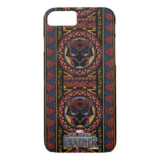 Black Panther | Panther Head Tribal Pattern iPhone 8/7 Case
