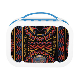 Black Panther | Panther Head Tribal Pattern Lunch Box