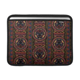 Black Panther | Panther Head Tribal Pattern MacBook Sleeve
