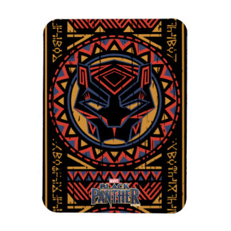Black Panther | Panther Head Tribal Pattern Magnet