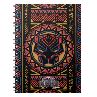 Black Panther | Panther Head Tribal Pattern Spiral Notebook