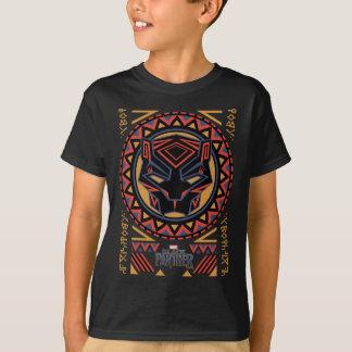 Black Panther | Panther Head Tribal Pattern T-Shirt