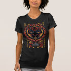 Black Panther | Panther Head Tribal Pattern T-Shirt