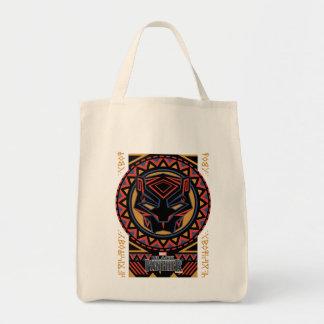 Black Panther   Panther Head Tribal Pattern Tote Bag