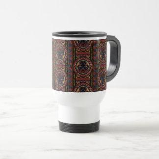 Black Panther   Panther Head Tribal Pattern Travel Mug
