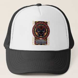 Black Panther | Panther Head Tribal Pattern Trucker Hat