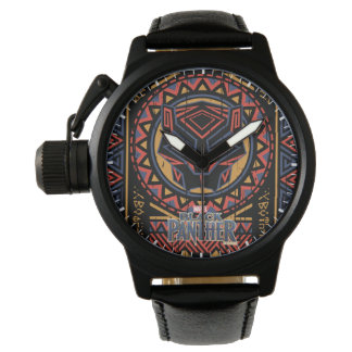 Black Panther | Panther Head Tribal Pattern Watch